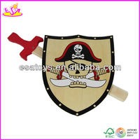 2015 New kids cute wooden shield toy, popular children Toy Wooden Swords, hot sale baby play wooden shield toy W01B006
