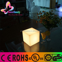 plastic housing table lamp glowing colorful nice cube decor led
