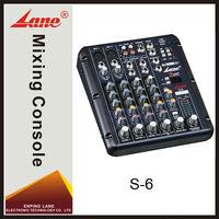 Lane S-6 professional digital usb mini audio mixer
