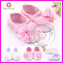 Fashion flowers girls crochet knitting baby shoes