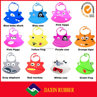 New design safety Washable soft silicone baby bibs with Crumb Catcher