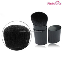 oval shaped power retractable makeup brush