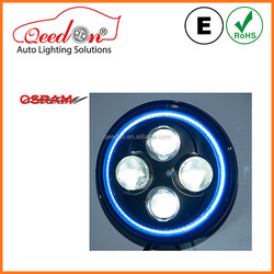 Qeedon ECE DOT 7 inch led headlight car with angel eyes for hummer h3