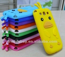 2012 silicone case for samsung galaxy s3 cute animal mobile phone case