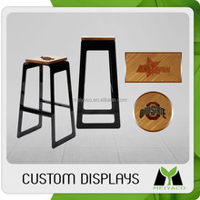 Popular new design simple wood promotional bar stool