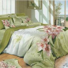 light green 3d reactive printed bedding