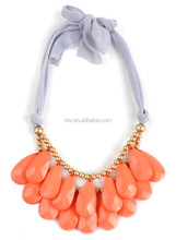 Fabrice band link bubble beads necklace