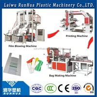 Blown film machine, polyethylene plastic film blowing machine price, plastic bag production line