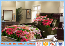 !!Hot sale 100% polyester fancy 3d bed sheet new design elegant flower printing colorful high quality bed sheet/3d bed cover set