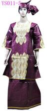 YS011-5 Direct Manufacturer women bazin riche shadda damask guinea brocade with embrodiery dress