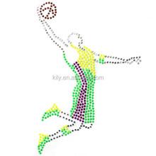 Korea and Rhinestone Transfer Hot fix Motif crystal Fashion Design Basketball