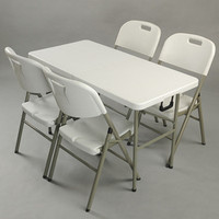 new portable 122cm long plastic fold in half table