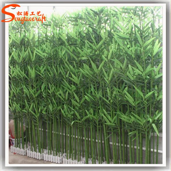 En gros int rieur artificiel bambou arbre cl ture for Bambou en interieur