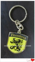 The Yellow dragon Vlaanderen car brand logo metal keychain key chain