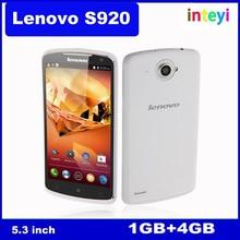 Original Lenovo S920 mobile phone Quad Core MTK6589 1.2GHz 1G RAM 4G ROM Camera 5.3 inch IPS Screen Android 4.2 Multi-language