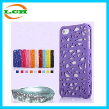 High quality 3d bird nest pattern pc case for Iphone 5 5s