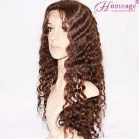 Homeage Chineses virgin hair full lace wig mix color remy hair extensions Saga hair