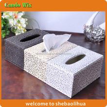 Small Rectangle Tissue Box/ Upscale Golden Pattern Decorative Tissue Box Holder