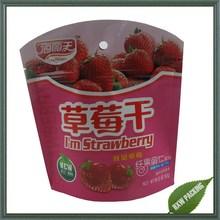 Stand Up aluminum foil food grade Plastic Zip Lock Dried Fruit Bag special shape
