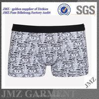 latest design underwear boxershorts for men brand, 100% cotton boxer underwear