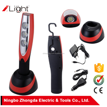 LED work lights 3W high power /3W COB with hook , auto rechargeable work light