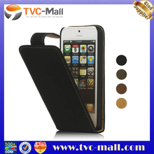 Vertical Soft PU Leather Flip Case for iPhone 5 5S