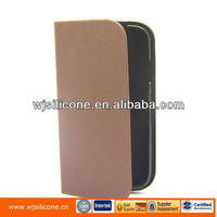 stand flip pu leather mobile phone cases for samsung galaxy s4