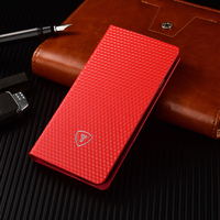 Newest Wholesale Mobile Phone Accessories Red Color Unique Design PU Case With Eco-friendly PC Case,for iphone Case