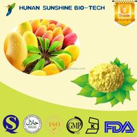 Hot sale Mango P.E. powder 80%/95% Mangiferin CAS: 4773-96-0