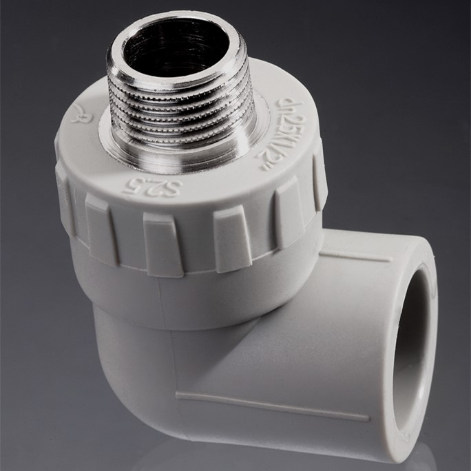 Ppr pipe fittings with male thread elbow for water pipes