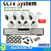 H.264 8ch alarm dvr kits Indoor outdoor hd cctv camera 2ch cctv car alarm system dvr