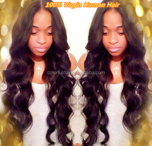 Mongolian remy human virgin super wave full lace wig , swiss lace for black women