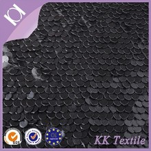 guangzhou fabric market modern design fantasy sequin embroidery fabric