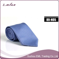 Wholesale high quality striped polyester neck tie for men