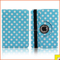 360 Degree Rotating Pu Case for ipad mini 2 case