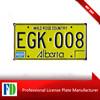 usa car yellow aluminum license plate