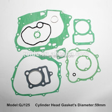 motorcycle full and top gasket motorcycle gasket set for QJ-125 cc