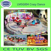 crazy dance space gyro rides of amusement park equipment rides