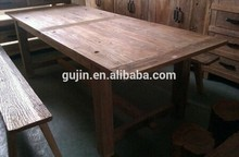 reclaimed wood dining table factory wholesale