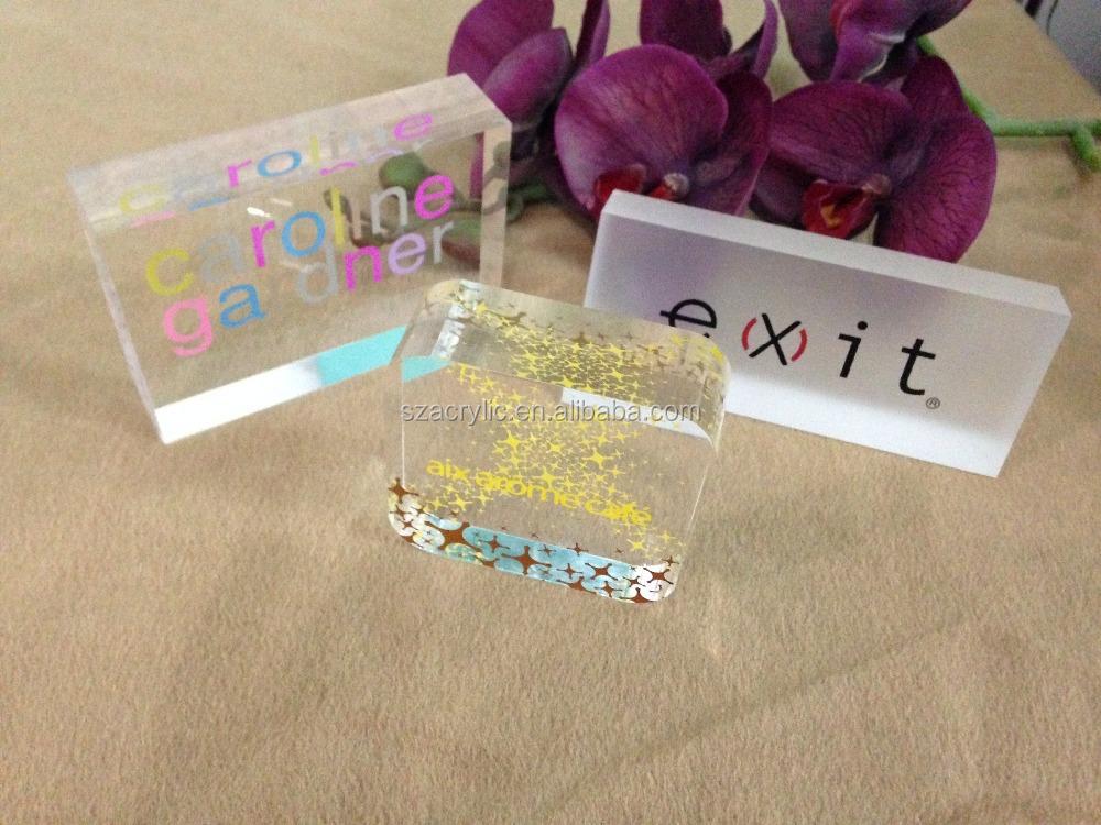 Beautiful Desktop Solid Clear Custom Acrylic Photo Blocks