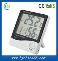 HTC-1 Digital Large LCD display thermometer / temperature sensor / humidity meter