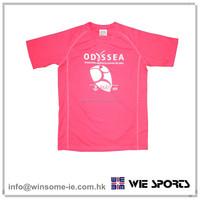 Factory price standard OEM mens 100% polyester moisture wicking performance tennis jersey