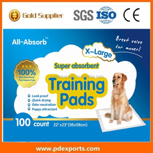 OEM Disposable Absorbent Indoor Housebreaking pet puppy dog training pad