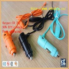 5V 1.5A 5v 2a output usb car charger with cable OEM Shenzhen factory
