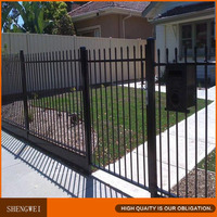 Powder coated simple wrought iron ornament fence