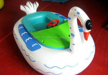 Hand shake inflatable toy children water games,PVC White Swan inflatable boat