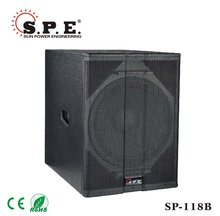 high quality low distortion 18inch low frequency driver speaker for dj SP-118B