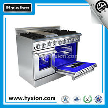 48'' freestanding 6 buners Gas Oven with range and griddle