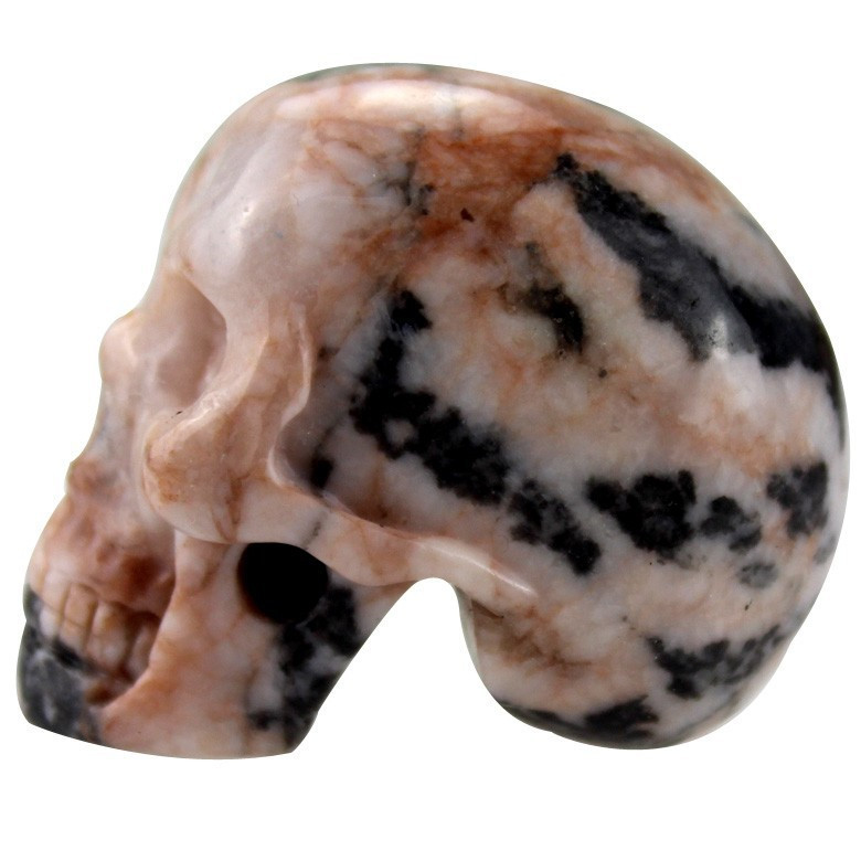 Wholesale quot skull stone carving handmade natural rock