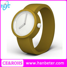 2015 Top seller watch simple face jelly watch silicone with your own logo